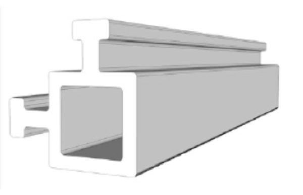 Profilo 2 vie maschio 4mm