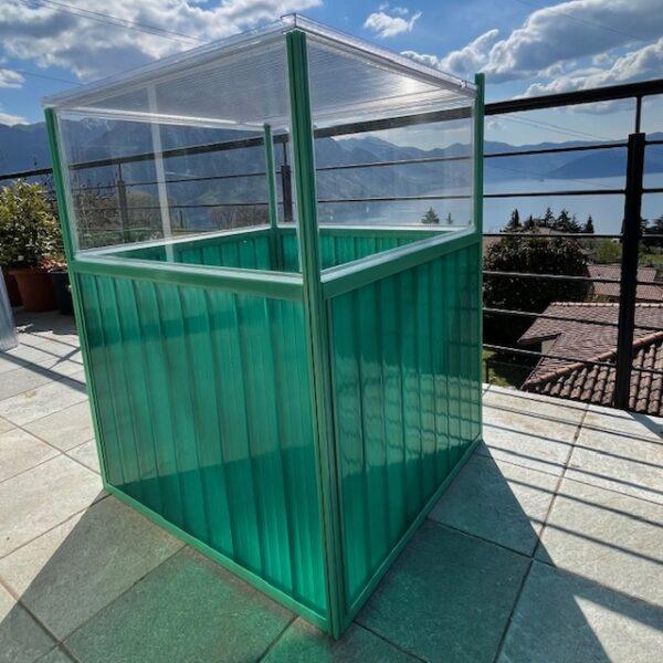 Aleana 7 serra da balcone in policarbonato compatto