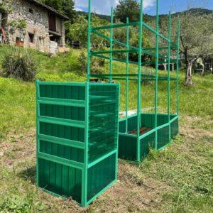 Compostiera da giardino in policarbonato